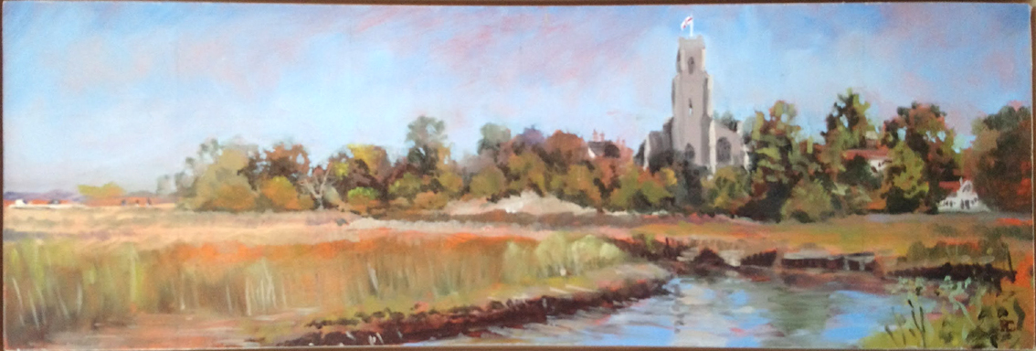 Blythburgh Church from Bulcamp Marsh