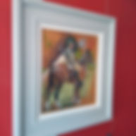 Castle House Rider study hung.jpg