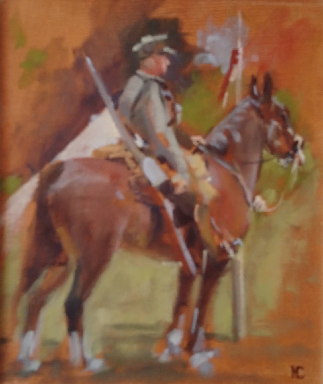 Rider Study, Castle House (Munnings Museum)