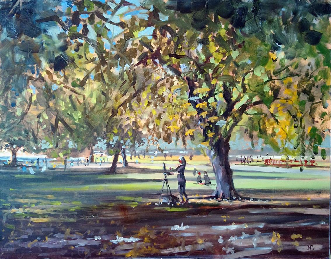 Artist at Work, St James Park