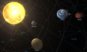 Solar system view of Mars new Transcendence 2018-07-25
