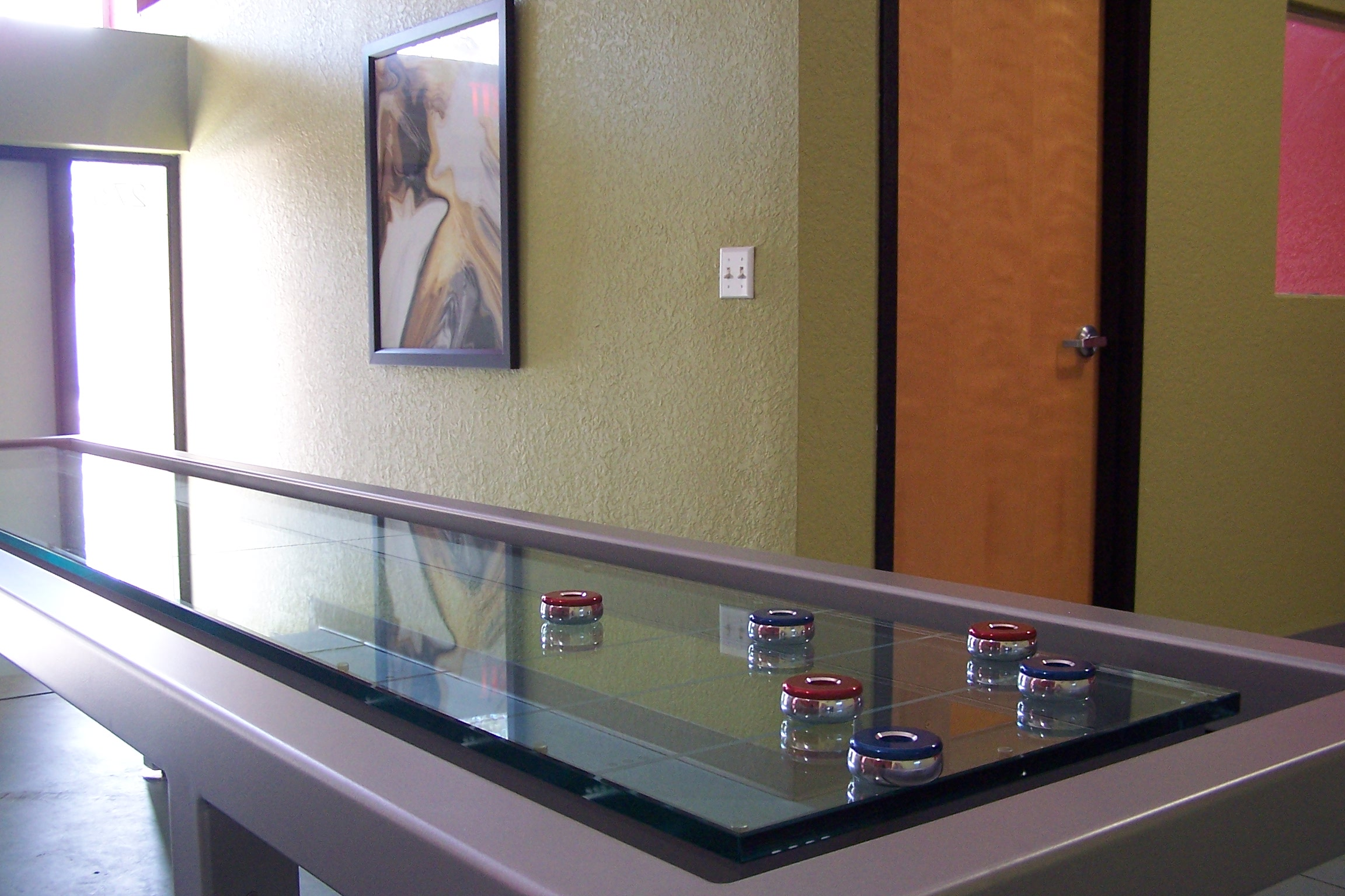 Custom Glass Shuffleboard
