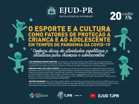 """LIVE: """"Esporte e Cultura como fatores de proteção à criança e ao adolescente em tempos de pandemia"""""""