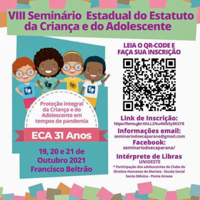 VIII Seminário Estadual do Estatuto da Criança e do Adolescente