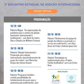 3ª Jornada Gaúcha sobre Adoção e Acolhimento e o 2º Encontro Estadual de Adoção Internacional