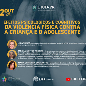 """LIVE: """"Efeitos Psicológicos e Cognitivos da Violência Física contra a Criança e o Adolescente"""""""