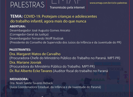 Convite:Live COVID-19 -Protejam Crianças e Adolescentes do Trabalho Infantil,agora mais do que nunca