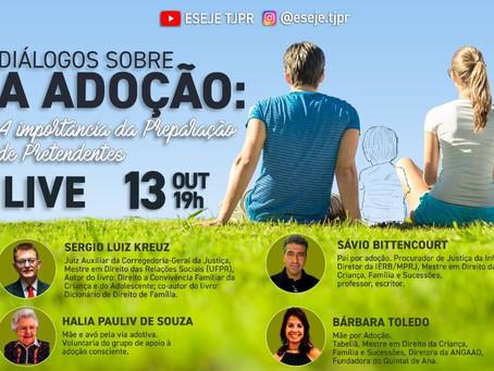 Live: diálogos sobre a adoção