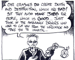 """Panel from """"Economics for Wasters"""""""