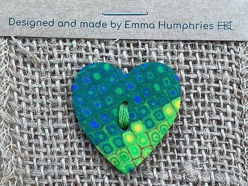 1 heart buttons Approx. 30 mm
