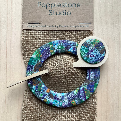 Scarf pin - oval