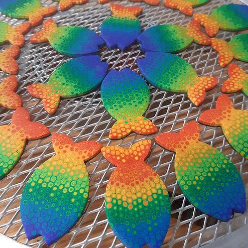 Rainbow Fish Button