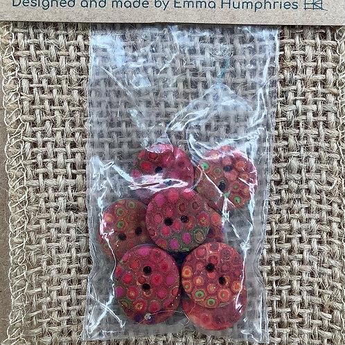 9 button Approx 13mm diameter