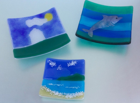 004 - The Virtual Village Show - Fused Glass Dish Entries