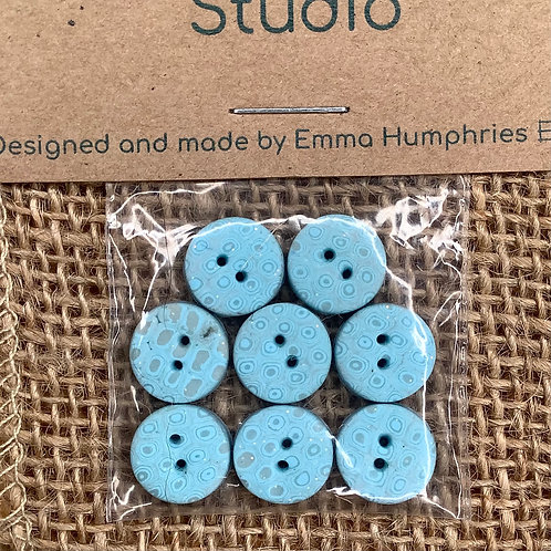 8 buttons Approx 11mm diameter