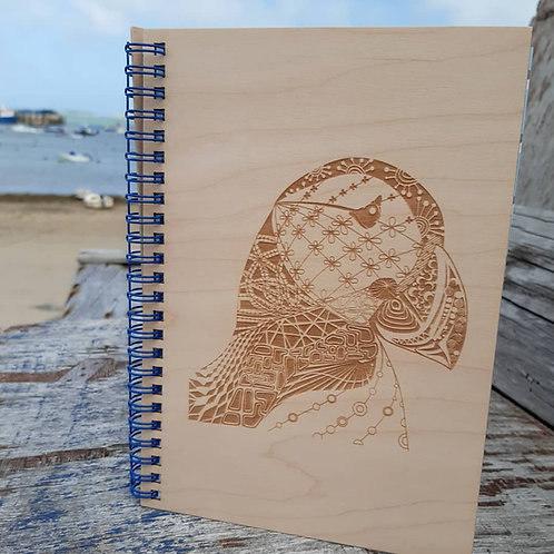 Customised Zentangle Puffin Note Book