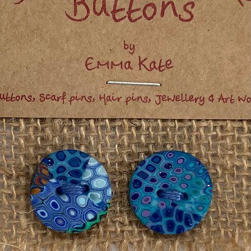 2 button Approx 15mm diameter