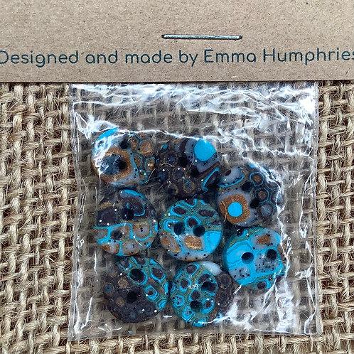 8 buttons Approx 11mm diameter