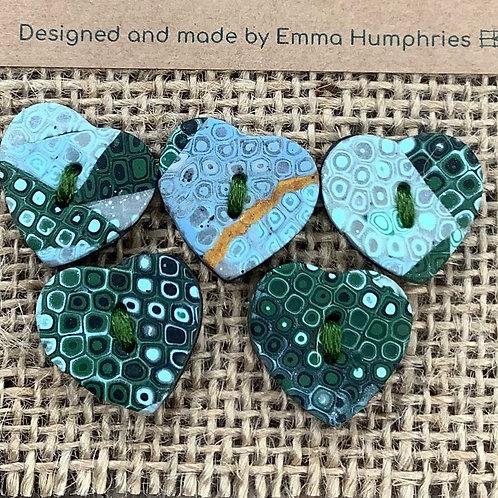heart buttons Approx. 20mm