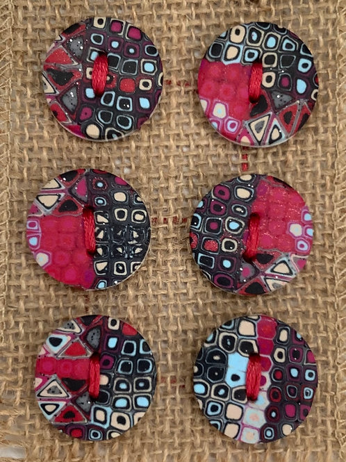 6 x button Approx. 24mm