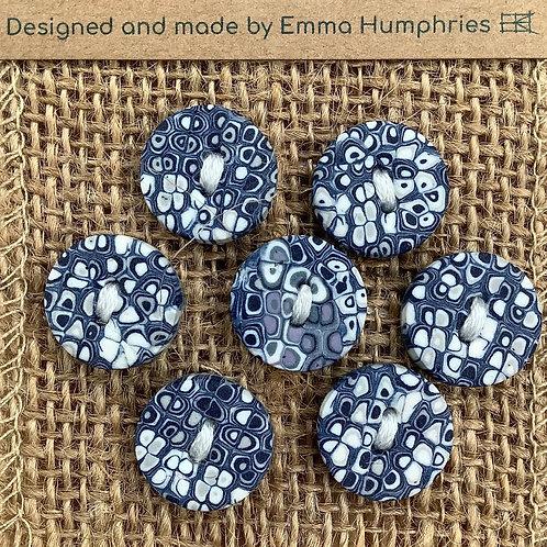 7 button Approx 15mm diameter