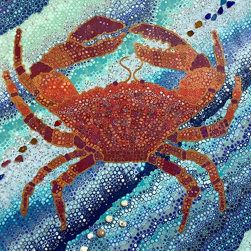 Crab amber and red