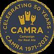 CAMRA 50th Logo - Gold on Slate Grey RGB