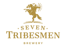 Seven Tribesmen Brewery logo in gold