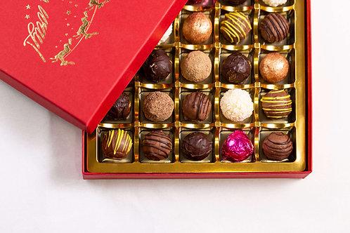 25 Handmade Luxury Welsh Chocolates in a Christmas Box