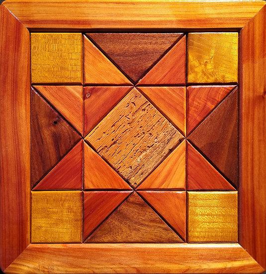 (144) Quilt Block Wall Hanging - Ohio Star