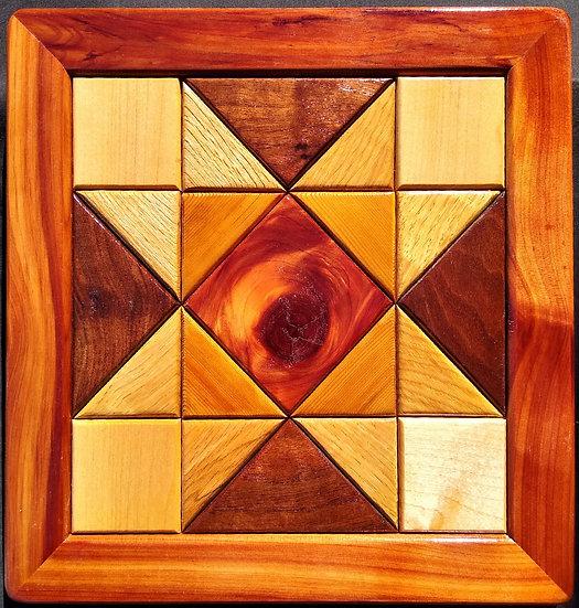 (138) Quilt Block Wall Hanging - Ohio Star