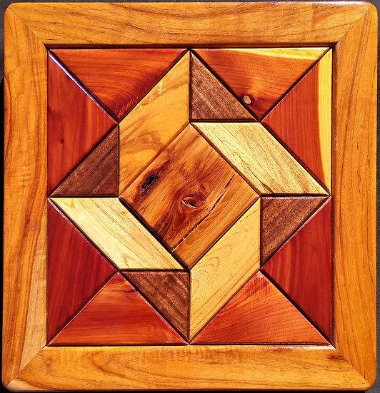 (219) Quilt Block Wall Hanging - God's Eye