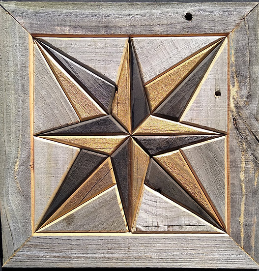 Quilt Block Wall Hanging - Compass Rose