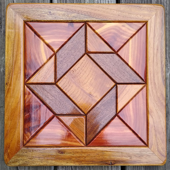 (225) Quilt Block Wall Hanging - God's Eye