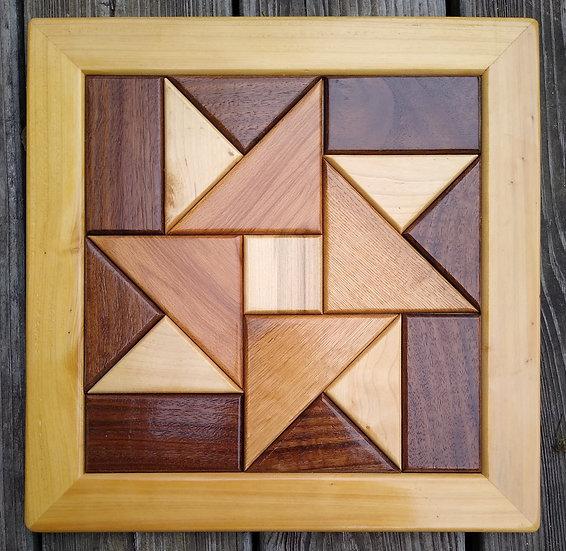 (230) Quilt Block Wall Hanging - Pinwheel