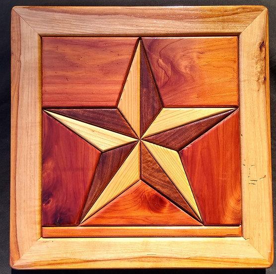 (244) Quilt Block Wall Hanging - Texas Star