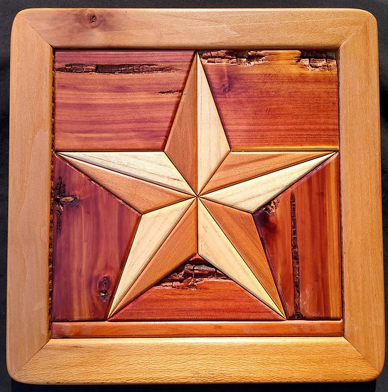 (236) Quilt Block Wall Hanging - Texas Star