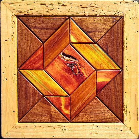 (227) Quilt Block Wall Hanging - God's Eye