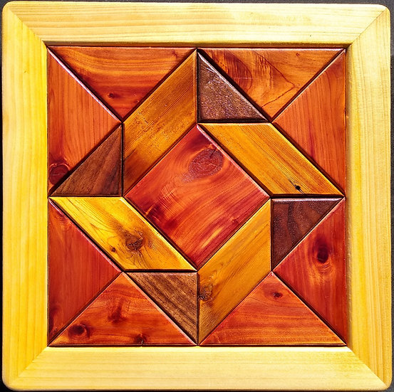 (217) Quilt Block Wall Hanging - God's Eye