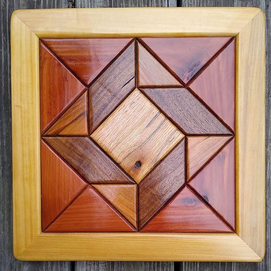 (216) Quilt Block Wall Hanging - God's Eye