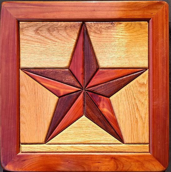 (239) Quilt Block Wall Hanging - Texas Star
