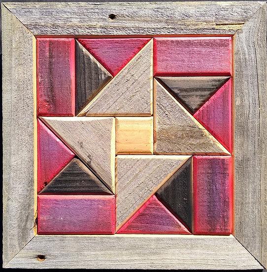 Quilt Block Wall Hanging - Pinwheel