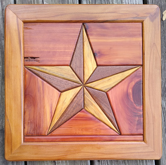 (238) Quilt Block Wall Hanging - Texas Star
