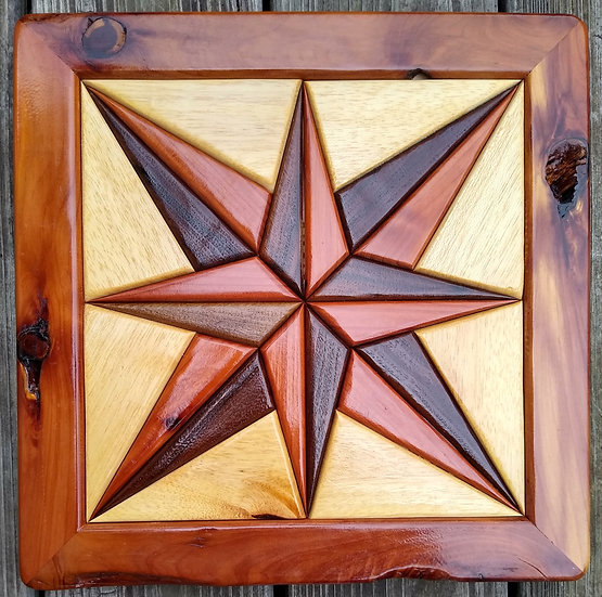 (212) Quilt Block Wall Hanging - Compass Rose