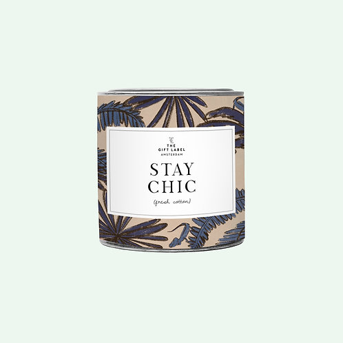 Big candle tin - Stay chic