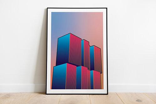 Artprint 'Radiant Gradient | De Rotterdam'