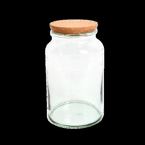 Halfopen terrarium fles M