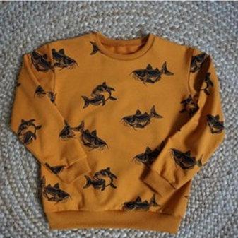 Sweater met karper-print