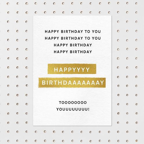 kaart- happy birthday