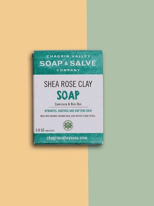 Shea Rose Clay Complexion Soap Bar